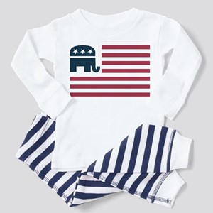GOP Flag Toddler Pajamas