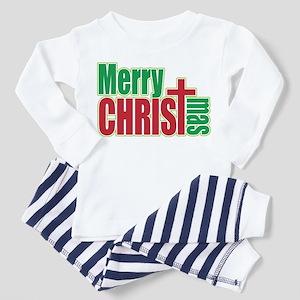 Merry CHRISTmas Toddler Pajamas