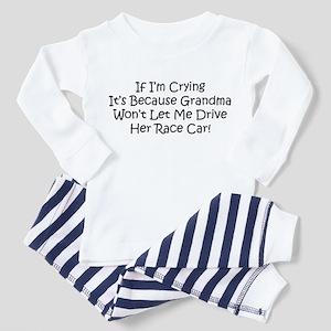My Grandmas Race Car Toddler Pajamas