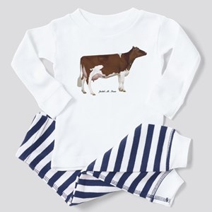 Red and White Holstein Cow Toddler Pajamas