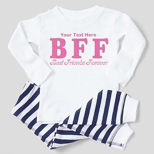 CUSTOM TEXT Best Friends Forever Toddler Pajamas