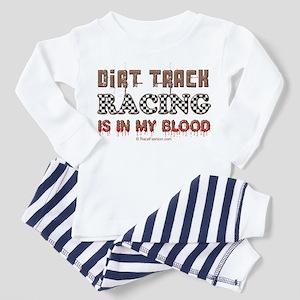 Dirt Track Racing Blood Toddler Pajamas