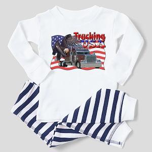 Trucking USA Toddler Pajamas