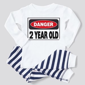 2 Year Old Danger Sign Toddler Pajamas