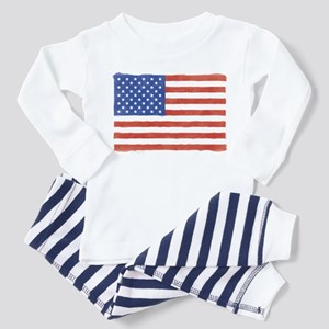 Watercolor USA Flag: Toddler Pajamas