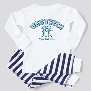 CUSTOM TEXT Besties Toddler Pajamas