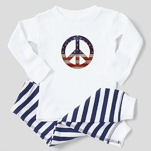 Weathered Flag Peace Sign Pajamas