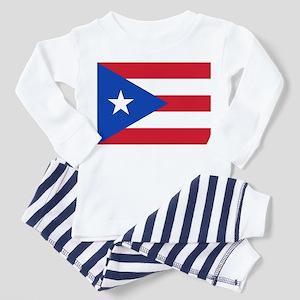 Flag of Puerto Rico Toddler Pajamas