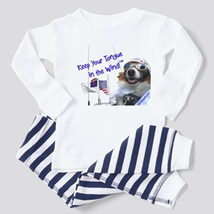 Tongue in the Wind -- Toddler Pajamas