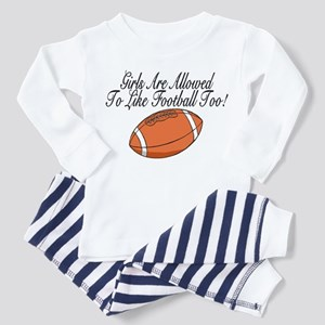 Girls & Football Toddler Pajamas
