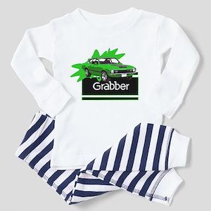 Grabber Green Maverick Toddler Pajamas