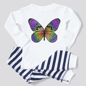 Rainbow Butterfly Toddler Pajamas