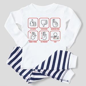 Towboat Symbols Toddler Pajamas