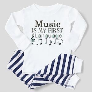 Music is my first Language Toddler Pajamas