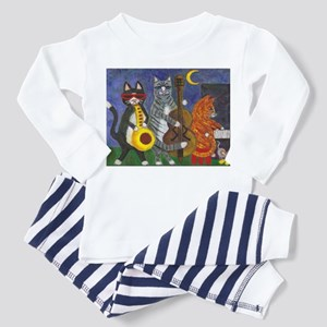 Jazz Cats at Night Toddler Pajamas