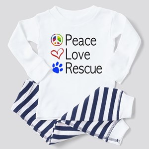 Toddler Peace Love Rescue Pajamas