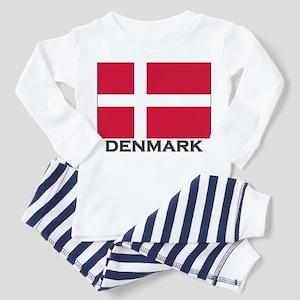 Flag of Denmark Toddler Pajamas