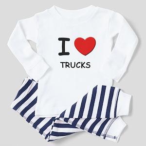 I love trucks Toddler Pajamas