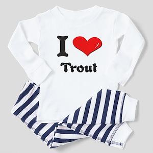 I love trout Toddler Pajamas
