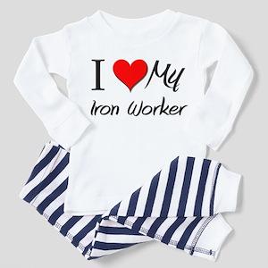 I Heart My Iron Worker Toddler Pajamas