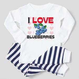 I Love Blueberries Toddler Pajamas