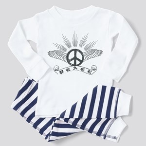 Peace with Wings Toddler Pajamas