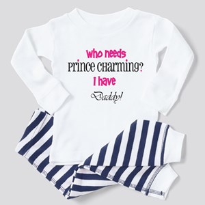 Daddy's my Prince (pink) Toddler Pajamas