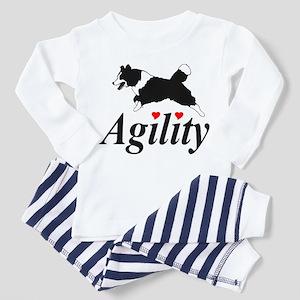Border Collie Agility Toddler Pajamas
