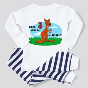 Down Under Or Bust Kangaroo Toddler Pajamas