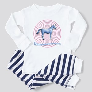Shuuuunnn! Blue unicorn! Toddler Pajamas