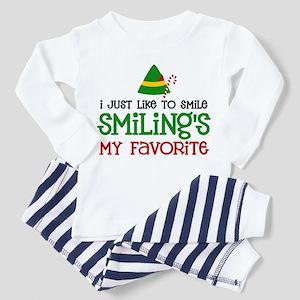 Smiling Is My Favorite Toddler Pajamas