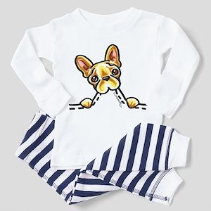 Frenchie Eating Pocket Toddler Pajamas