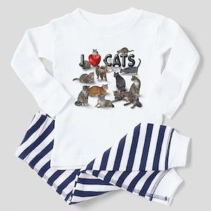 """I Love Cats"" Toddler Pajamas"