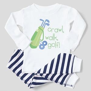 Crawl, Walk, Golf Toddler Pajamas