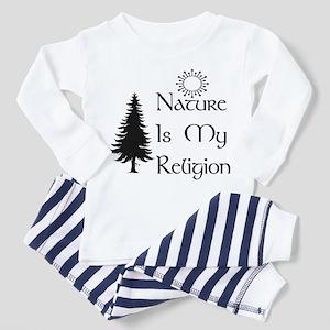 Nature Is My Religion Toddler Pajamas