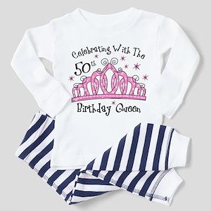 Tiara 50th Birthday Queen Cw Toddler Pajamas