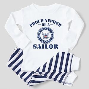 Proud Nephew Of A US Navy Sailor Toddler Pajamas