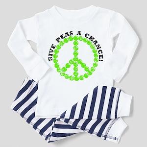 Peas a Chance (Distressed) Toddler Pajamas