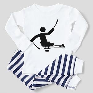 Physically Challenged Sled Hockey Toddler Pajamas
