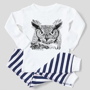 Horned Owl Toddler Pajamas