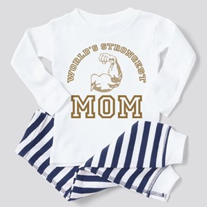 World's Strongest Mom Toddler Pajamas