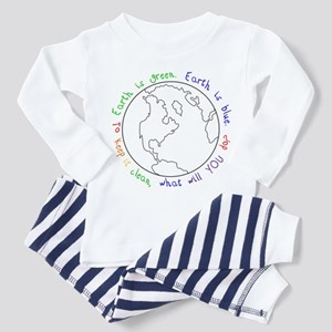 Colorable Earth is Green Toddler Pajamas