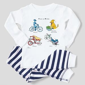 Dogs on Bikes Toddler Pajamas