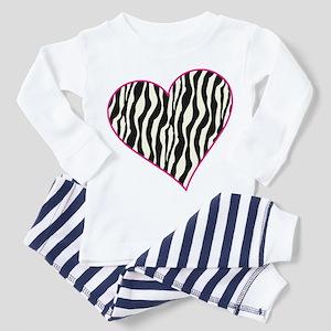 Zebra Heart Toddler Pajamas