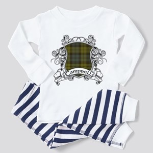 Campbell Tartan Shield Toddler Pajamas