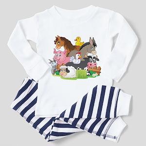 Cartoon Farm Animals Pajamas