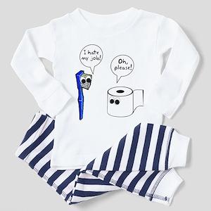 Tooth Toilet Paper Worse Job Toddler Pajamas