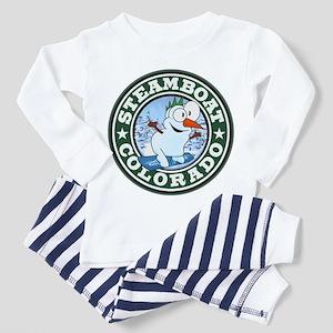 Steamboat Snowman Circle Toddler Pajamas