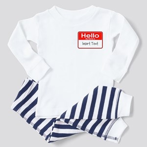 Personalized Hello Name Tag Toddler Pajamas