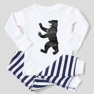 Berlin Bear Distressed Toddler Pajamas
